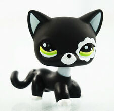 2'' Littlest Pet Shop LPS #2249 Black Cat Green Eyes Kids Toy Girl toy