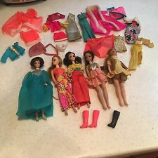 Vintage Topper Dawn Dolls, doll heads, ponytail, Clothes Lot