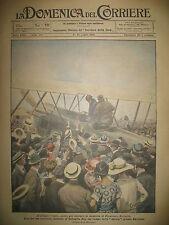 RAVENNE RAID AERIEN LONDRES MARATHON ATTELAGES LA DOMENICA DEL CORRIERE 1921