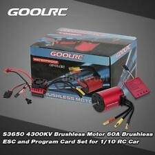 Original GoolRC S3650 4300KV Motor +60A ESC +Program Card Combo for 1/10 RC L1A1