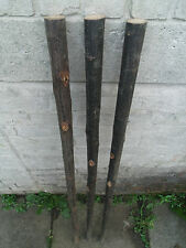 3 Chestnut Shanks Stickmaking Walking Stick Shafts Blanks Bark Seasoned Blank