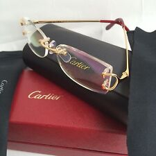 NIB Cartier Unisex Rimless Prescription Eyeglasses Frame