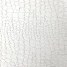 """Faux Fur Fabric Short Pile 60"""" wide Sold By The Yard Shag Reptile Optic White"""