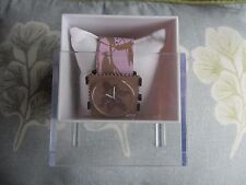 STAMPS Pink leather strap, Flower face ladies watch New Boxed.