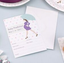 BABY SHOWER Prediction Game X 10 Cards & Enveloples - Showered With Love Range