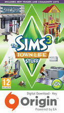 THE SIMS 3 TOWN LIFE STUFF PACK PC AND MAC ORIGIN KEY