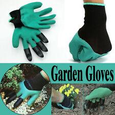1pair neue Gartenhandschuhe für den Garten Graben mit 4ABS Plastikklauen Stulpen