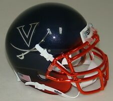 VIRGINIA CAVALIERS ALTERNATE NAVY CHROME SCHUTT MINI FOOTBALL HELMET