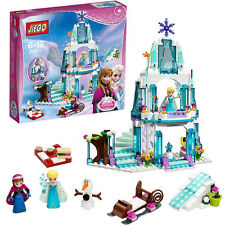 Girl Series Ice Castle Anna Elsa Queen Kristoff Olaf Building Blocks Toys Gift