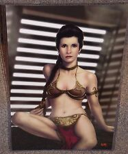 Star Wars Princess Leia Slave Glossy Art Print 11 x 17 In Hard Plastic Sleeve