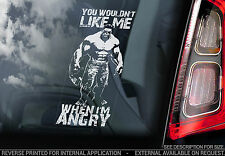 The Incredible Hulk - Car Window Sticker - 'You Wouldn't Like Me When I'm Angry'