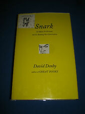 Snark It's Mean It's Personal It's Ruining Conversation by David Denby SIGNED