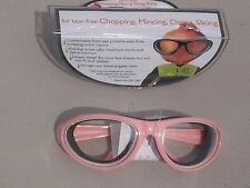 RSVP INTERNATIONAL pink ONION GOGGLES TEAR FREE CHOPPING MINCING DICING SLICING