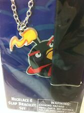 ANGRY BIRD SPACE NECKLACE AND SLAP BRACELET SET  BRAND NEW UNOPENED PACKAGE