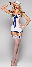 New sexy LINGERIE White sailor navy wench costume party outfit H6705 size 8-12