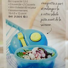 Tupperware salade on the go 1,5l  NEUF