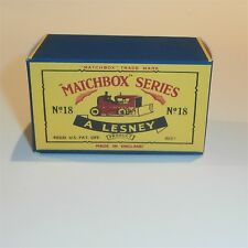 Matchbox Lesney 18 b Bulldozer empty Repro C style Box