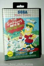 THE SIMPSON BURT VS. THE SPACE MUTANTS GIOCO USATO PAL MASTER SYSTEM FR1 37057