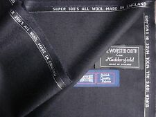100% LAMBSWOOL WORSTED FLANNEL SUITING FABRIC - MADE IN ENGLAND (3.4 m.)