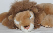 "Fiesta Jungle Animals Lying Lion 13"" Plush Brown/Tan Realistic Sleeping Stuffed"