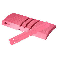 200pcs Plastic Plant Hanging Tags Nursery Gardening Labels Signs 2x20cm Pink