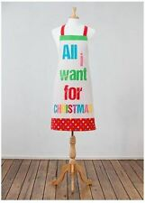 """""""All I Want"""" Apron and Oven Mitt Set"""
