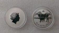 "Australian Lunar II ""Year of the Ox""  2009, 1 Oz Silver coin"