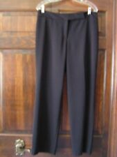 Women Black Pants STYLE & CO Career/Casual Flat Front100% Polyester Sz10 ExcCond