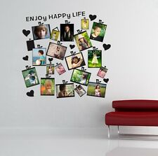 20Pcs Family Picture Photo Frame Wall Sticker Removable Mural Home Decor Decal