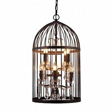 Genuine RRP£689 LIBRA Large Bird Cage 8  Light Chandelier Jewelled Huge Light