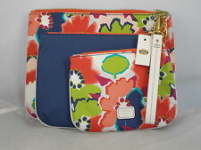 Fossil Blue Floral IVY Collection Triple Pouch 3 Cosmetic Bag Set SWL1327 $70