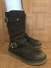 CUTE❤️ UGG Australia Kensington Boots Toast Brown Leather Biker 5678 Sz 7