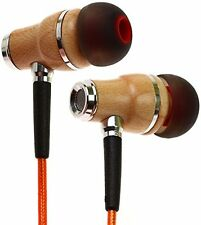 Symphonized NRG 2.0 Genuine Wood In-ear Noise-isolating Headphones (Orange)
