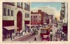SHOPPING DISTRICT ST. CATHERINE STREET WEST MONTREAL QUE CANADA 1948