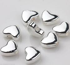 25Pcs Tibet Silver Heart Loose Spacer Beads Jewelry Finding DIY 6*5mm