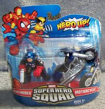 SUPER HERO SQUAD 2009 MARVEL CAPTAIN AMERICA & MOTORCYCLE