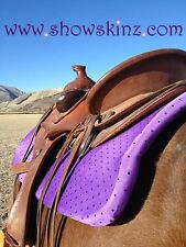 Show Skinz Saddle Pad Covers-Purple Sequin