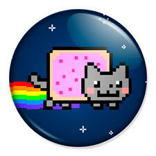 "Nyan Cat 25mm 1"" Pin Badge Button Geek Pop Art Meme"