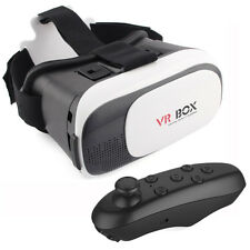 VR BOX 2.0 Virtual Reality 3D Glasses with Bluetooth Control Gamepad
