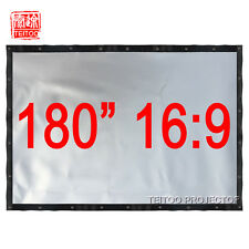 """180"""" 16:9 High Quality Profile Silver 3D HD Projector Screen to Home Theater"""