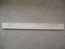 "Kraftmade NATURAL wood Birch  Wall Fluted Filler Molding 3"" X 32"" Moulding"
