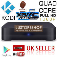 MXQ KODI Quad Core Android TV Box Internet HD Media Player Streamer Fully Loaded