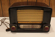 Retro GE General Electric Model 115 Bakelite Antique Vtg. AM Tube Radio WORKS!