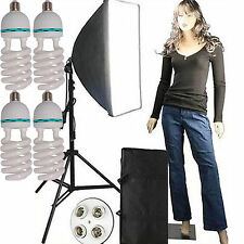 "Hwastudio ® 2300 WATT Softbox 20 ""x 28"" VIDEO Continuo Illuminazione Kit FLUORESCENTE"