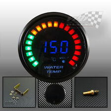 "LED digital water temp smoked face gauge 2"" 52mm universal with sensor"