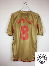 Lyon JUNINHO #8 08/09 Away Football Shirt (XL) Soccer Jersey Gold