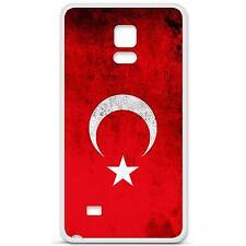 Coque housse étui tpu gel motif drapeau Turquie Samsung Galaxy Note 4