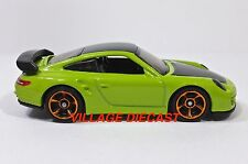 "2015 Hot Wheels ""Workshop"" Porsche 911 GT2 LIGHT GREEN/MINT"