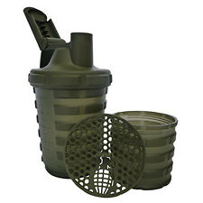 Grenade 20oz Shaker Blender Mixer Bottle with 600ml Protein Cup Compartment
