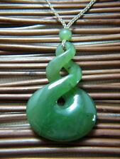 Premium Jade Maori Triple Twist Surfer Surf Tribal Necklace